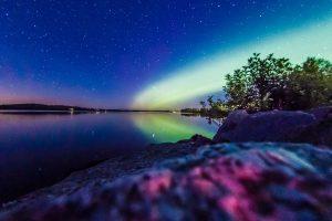Polarlicht und Milchstraße