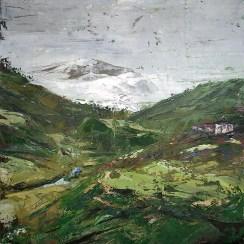 «Tibet, Ganzi», oil on canvas, palette knife, 50 x 50 cm, 北京 2014