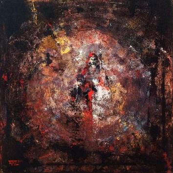 «Guru Rinpoche in Red», acrylic on canvas, 60 x 60 cm, 北京 2016