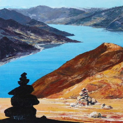 «The Stones. Inner Tibet series», acrylic on canvas, palette knife, 60 x 60 cm, 北京 2016