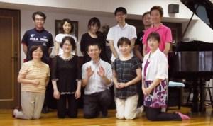 アレクサンダーテクニーク札幌グループ集合写真‐2016年7月10日(日)