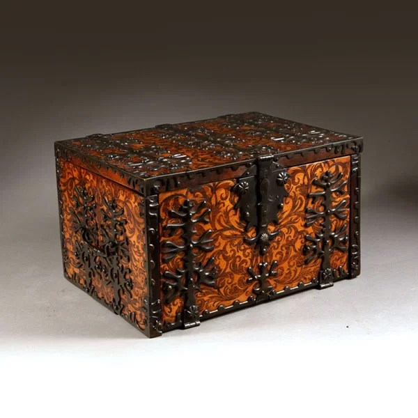 William and Mary Seaweed Marquetry Strong Box Firmly Attributed to Gerrit Jensen