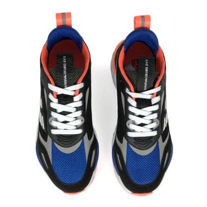 emporio armani mesh scarpe uomo nero blu fluo arancio alexander john shoes alexanderjohn.it