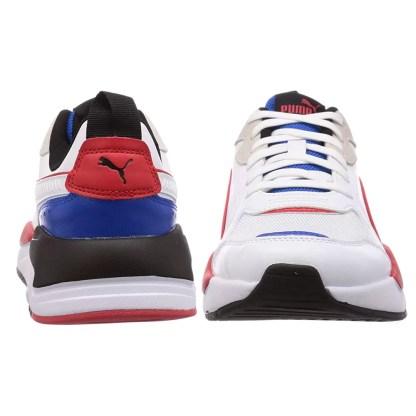 scarpe puma uomo x ray game bianco blu rosso sneakers pelle alexander john shoes alexandejohn.it