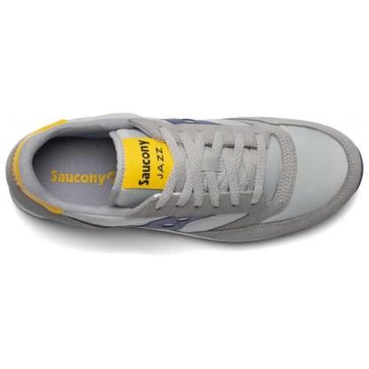 scarpe sneakers uomo saucony jazz original grigio blu giallo nuova collezione 2021 estive estate s2044-605