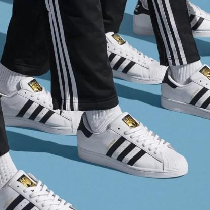 Adidas Superstar Uomo Scarpe sneakers sportive bianco nero 40 42 ginnastica alexander john shoes