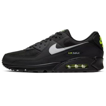 Nike Air Max 90 Uomo Nero verde fluo scarpe sneakers 41 42 43 44 45 originale cv1634-001