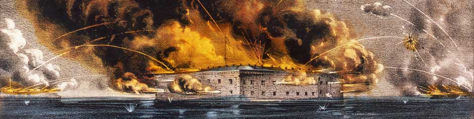 Image result for firing on fort sumter