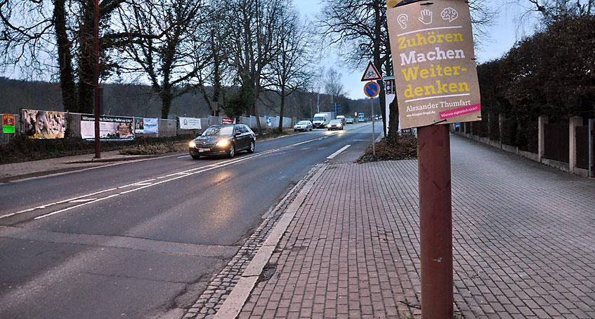 Besuch bei der Bürgerinitiative zur Verkehrsberuhigung Martin-Andersen-Nexö-Straße (MAN)