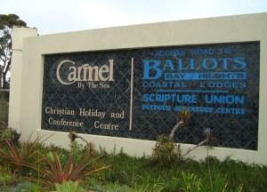 The way into Carmel Christian Guest Farm