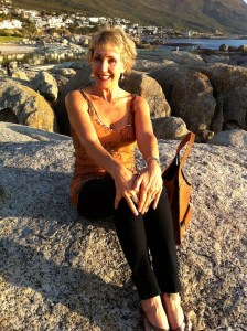 My beautiful wife on the rocks (don't tell her I said this, she doesn't read my blog!)
