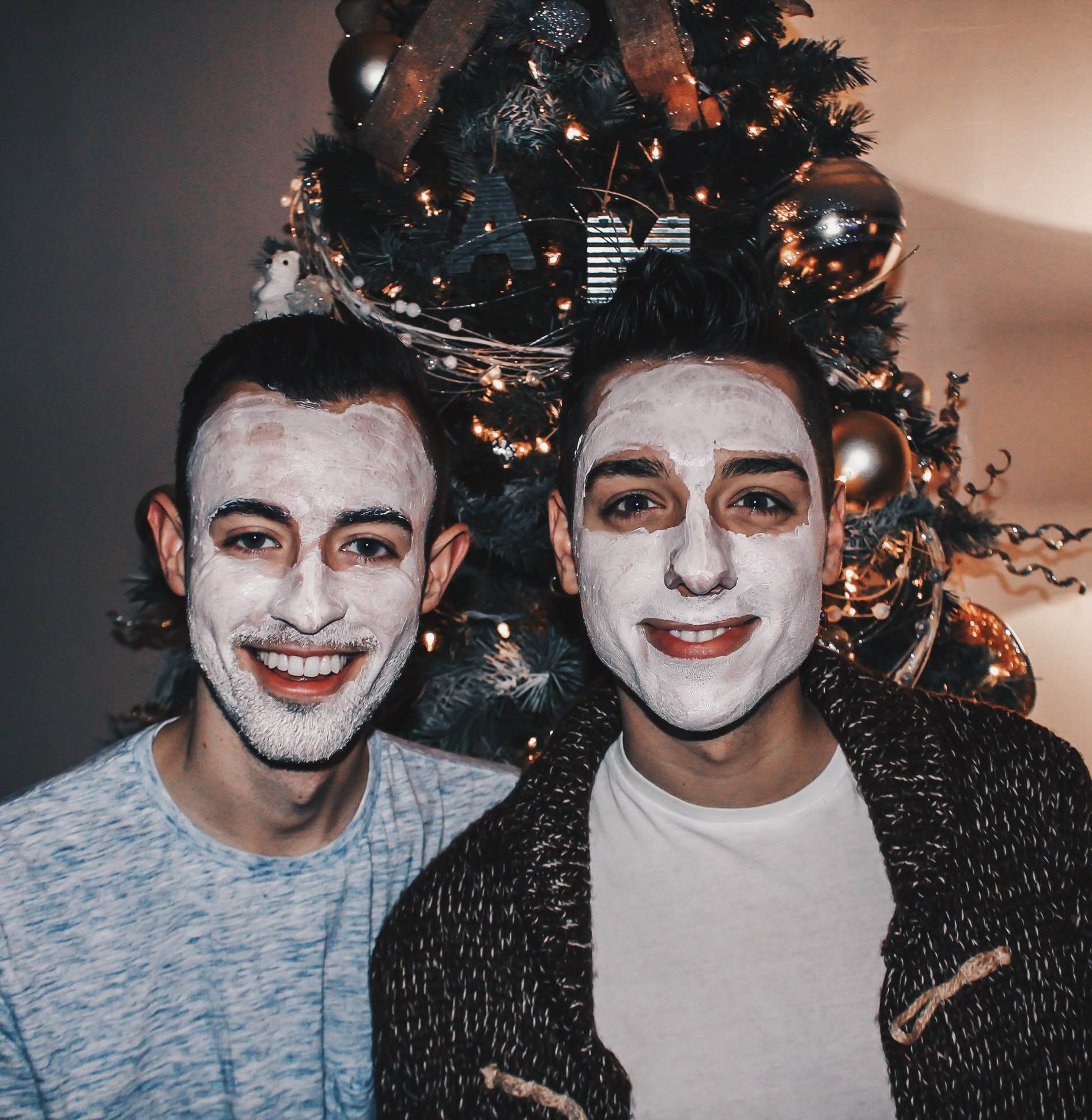 alex and mike with mask on