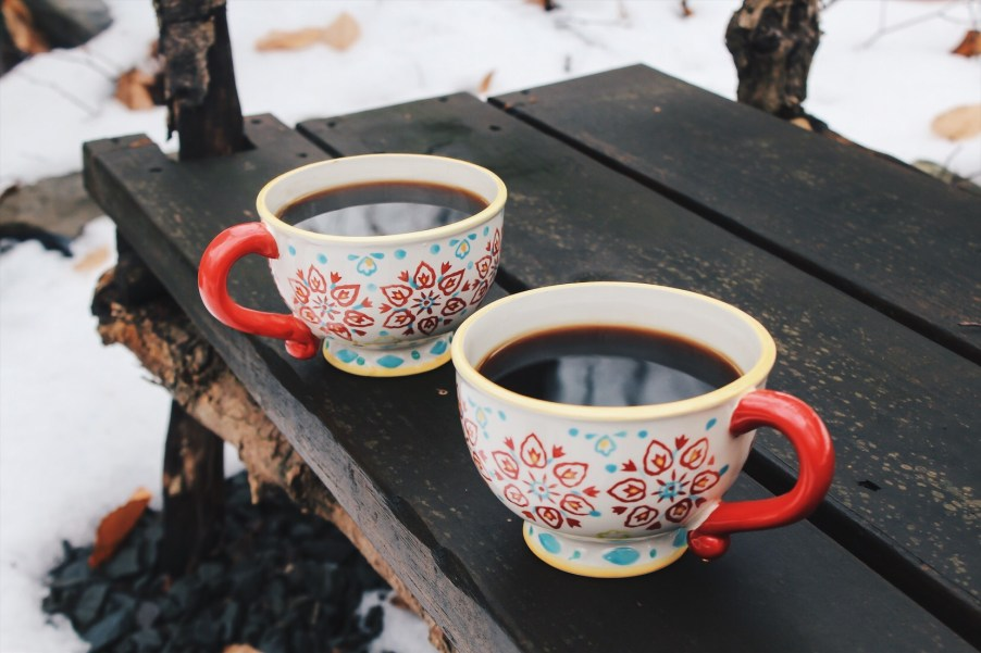 outdoor shot of coffee