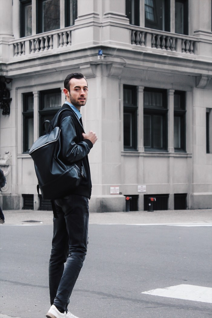alex with asos bookbag