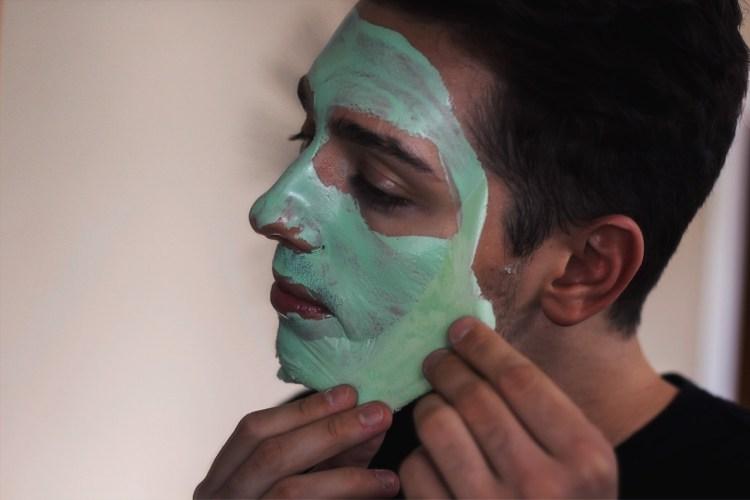 mike peeling off boscia face mask