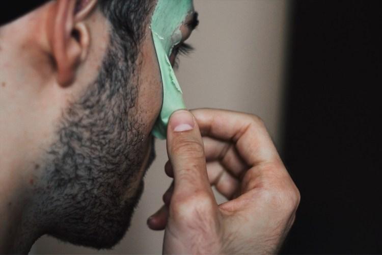 peeling off the boscia face mask