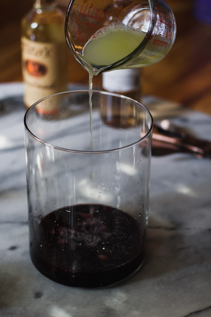 black rose wine cocktail