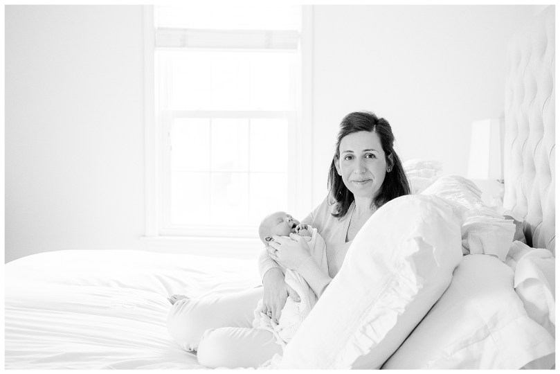 Monotoned white bedroom perfect for clean distraction free newborn session.