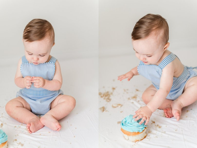 Alexandra Michelle Photography - 1 Year Cake Smash Portraits - Virginia - Summer 2019 - Tenney-126