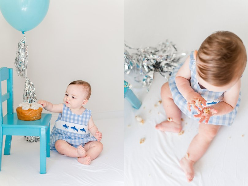 Alexandra Michelle Photography - 1 Year Cake Smash Portraits - Virginia - Summer 2019 - Tenney-39