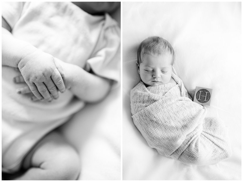 Alexandra Michelle Photography - 2019 -Baltimore Maryland - In Home Newborn Session - Coiner BW-3