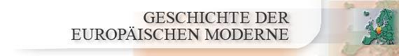 Geschichte der Europäischen Moderne   Logo