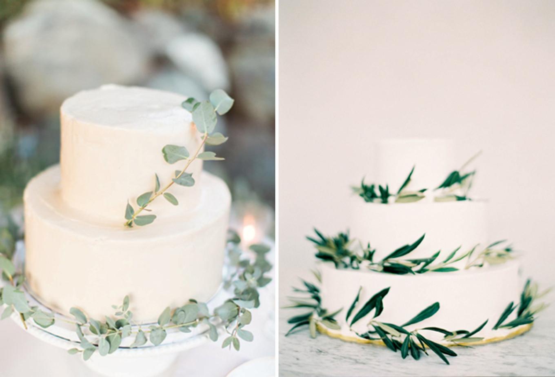 15 Mouthwatering Green Botanical Wedding Cake Ideas