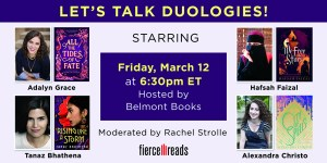 Fierce Reads Duology panel graphic