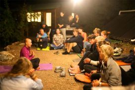 Leading yoga! (Photo by Harald)