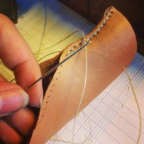 Sewing that leather