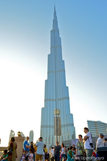 The Burj Khalifa from the bottom