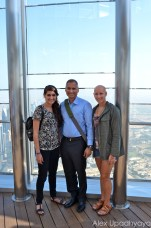 On the 124th floor with Kayla and Papa