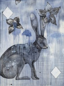 Hare of Diamonds | 48 x 36""