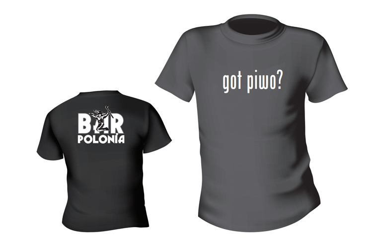 Bar Polonia T-shirt: Got piwo
