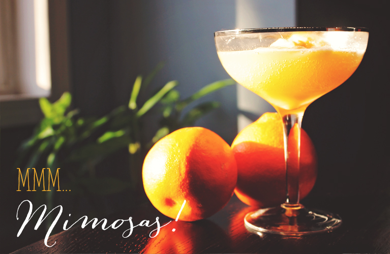 Mmm...Mimosas! Champagne and Orange Sherbet |Alex Inspired