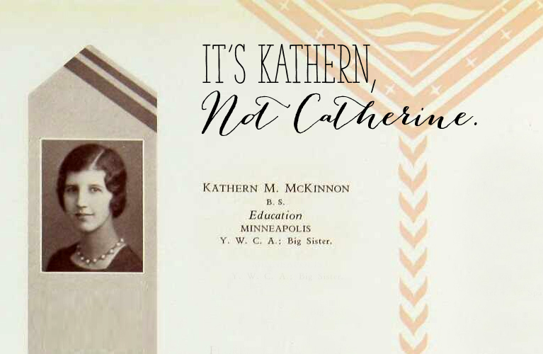 It's Kathern, not Catherine | Alex Inspired