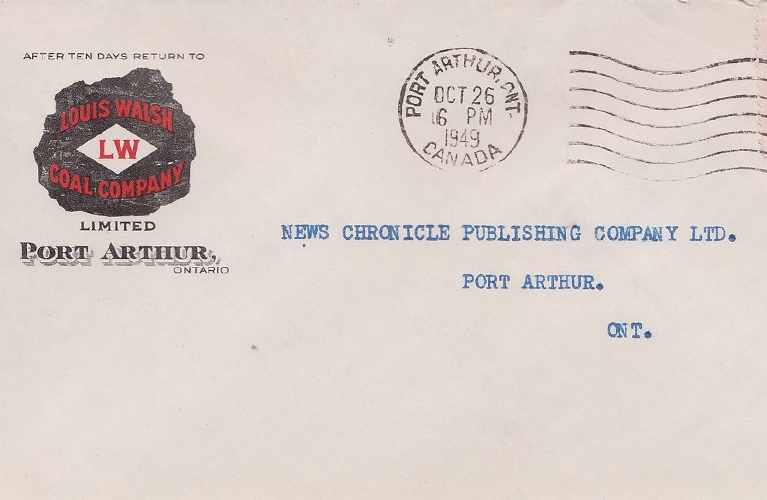 The Walsh Coal Company Envelope - found on Ebay | Alex Inspired