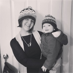 Photo of Alex and her son on New Year's Eve