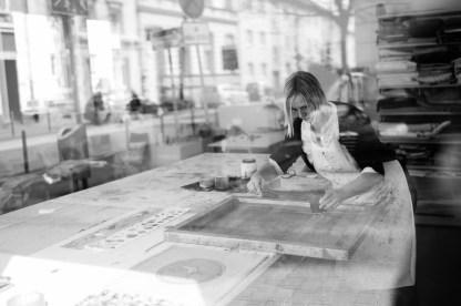 Im Siebdruck-Atelier von Alexandra Lenz