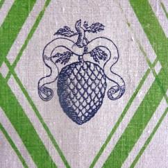 100% Leinen, Detail aus einem Wandbehang