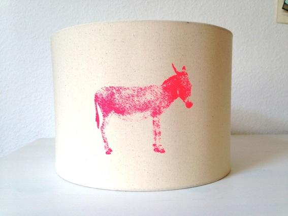 Lampenschirm Esel Siebdruckkurs