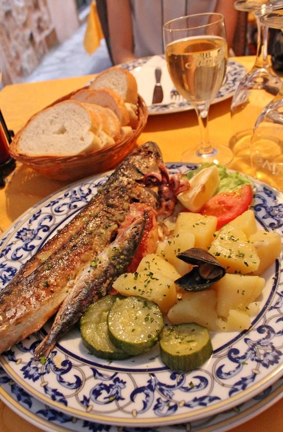 Dubrovnik - Fish and veggie