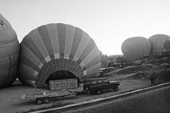 Hot Air Balloon Ride in Cappadocia - Balloon getting ready