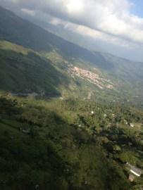Para gliding in Cocorna