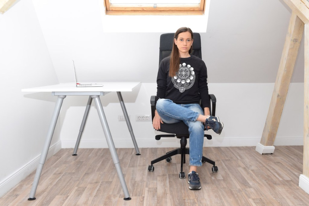 Chair Pigeon Pose