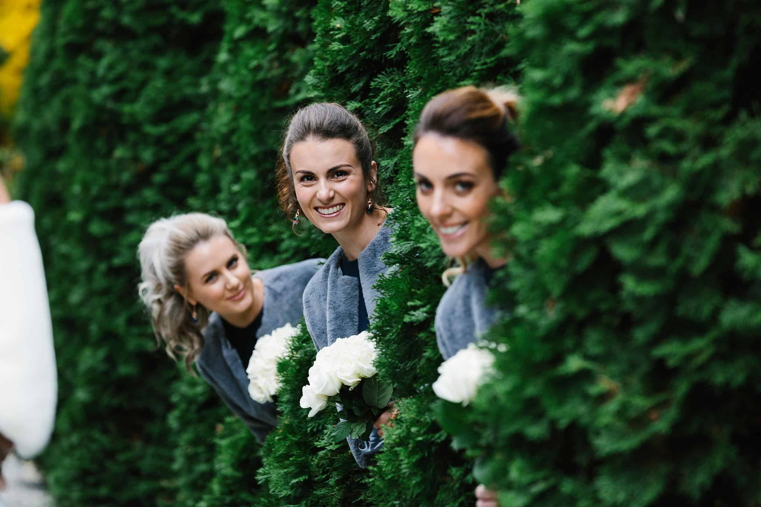 Bridesmaids in the trees