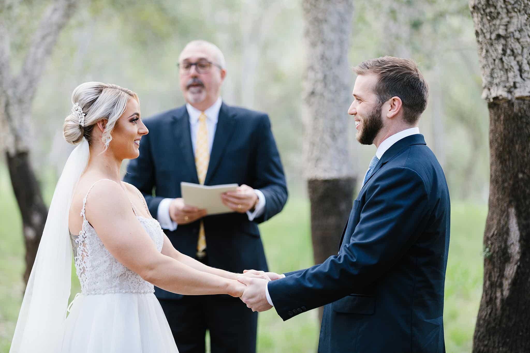 Michael Bower officiates wedding