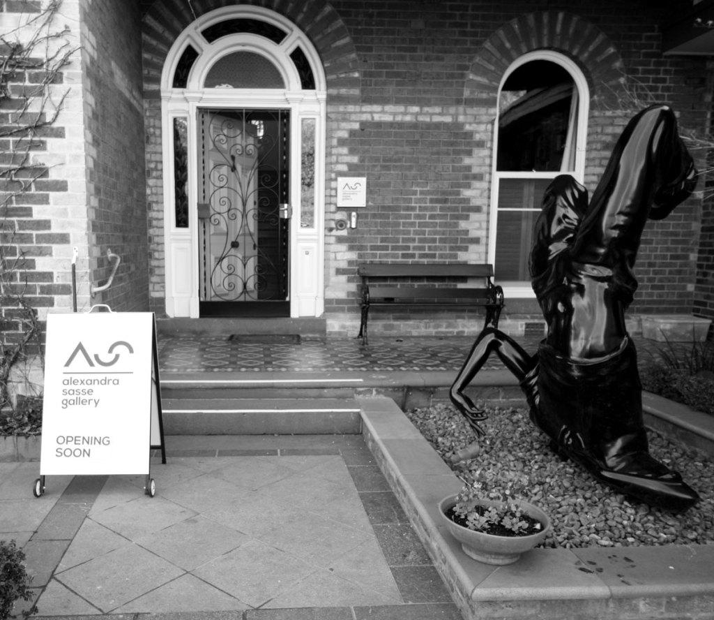 Entrance of Alexandra Sasse Gallery