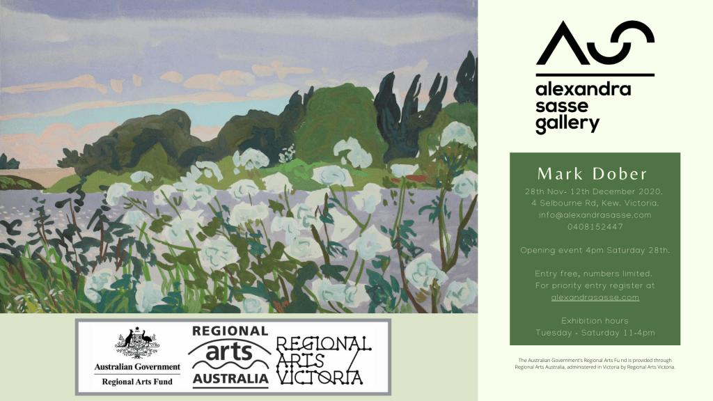 Alexandra Sasse Gallery invitation November 2020 Mark Dober