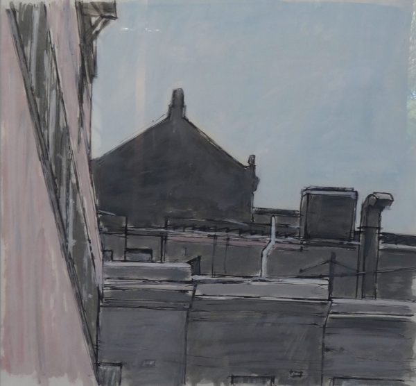 Painting by Hendrik Kolenberg. 'Rooftops Near Central'